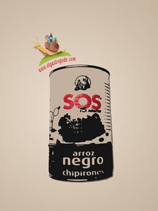 SOS arroz negro con chipirones: soso y no es un fácil juego